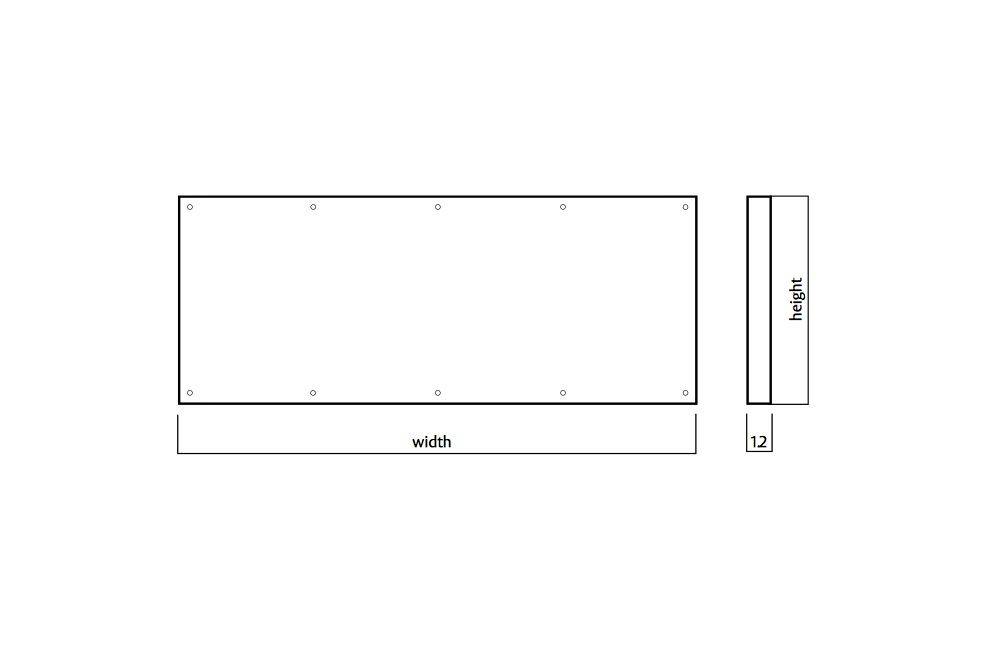 Door Kickplate 400mm x 420-690mm Countersunk Visible Fix Stainless Steel 1.2mm