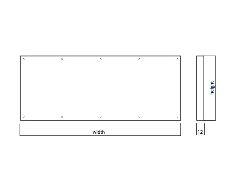 Door Kickplate 150mm x 420-1220mm Visible Fix Stainless Steel 1.2mm