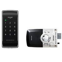 Schlage S-480 Digital Touchpad Rim Lock Black