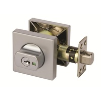 Lockwood 005/B2SPDP Paradigm Double Cylinder Deadbolt Square Satin Chrome