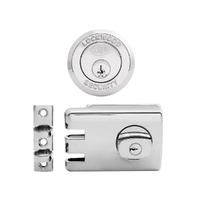 Lockwood 355NSP Door Lock Double Cylinder Deadlock Satin Pearl
