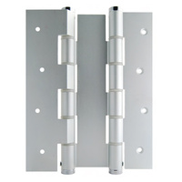 Bellevue Justor Wall Mounted Double Action Spring Hinge Silver BIDA180WAAS