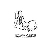 Brio 103WA Wall Mounted Adjustable Surface Guide Nylon