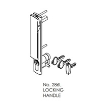 Brio 286L+ 286 Timber Locking Handle Set