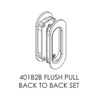 Brio 401B+ Back to Back Flush Pull For Top Hung Sliding Panel
