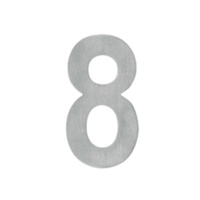 Delf Door House Number # 8 SSA658 65mm Self Adhesive Satin Stainless Steel