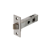 Dorma 2202 Tubular Latch Through Fix Polished Stainless Steel 60mm
