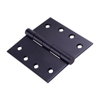 Dorma Kaba DKH100/100FPBLK Broad Butt Fixed Pin Hinge Black Powder Coat 100x100mm