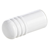 10x Emro Door Stop 453WHS Wall Mounted 75mm Plastic Cushion White