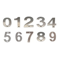 JMA Door House Number # 0-9 200mm Numeral Visible Fix 304 Grade Stainless Steel