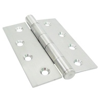 20x Kaba Door Hinge KH100/75FPSSS 100x75x2.5mm Stainless Steel Fixed Pin