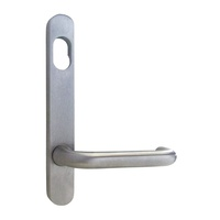 Kaba Door Handle N101C-25SCP N100 Narrow Style Plate w/ Cylinder Hole & 25 Lever