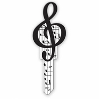 Lucky Line House Key LULB125L Musical Note LW5