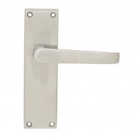 Pavtom 7100SC Door Handle Straight Lever Latch Satin Chrome 150x42mm
