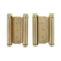 HFH Door Hinge 4150-155 Double Action Spring 150mm Polished Brass Pair