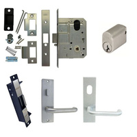 Kaba Entrance Door Pack MS2 Mortice Lock Electric Strike Cylinder Plate Handles