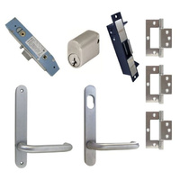 Kaba Classroom Door Pack SBM2 Narrow Mortice Electric Strike Hinge Round Plate