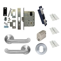Kaba Storeroom Door Pack MS2 Mortice Lock Cylinder Lever Hinges Electric Strike