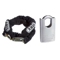 ABUS 10KS Chain 10KS110BLK 10mmx110cm + 83CS/50 Padlock 83CS50NKD 50mm Body