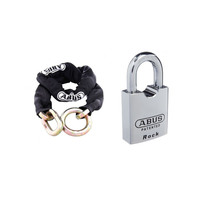ABUS 12KS Chain 12KS250BLK 12mmx250cm + 83/55 Padlock 8355KA 55mm Body