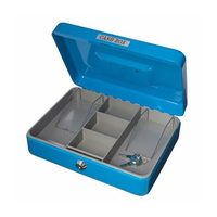 BDS Cash Box SS325A 250x130mm Lockable Removable Money Tray Notes Coins