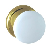 Nidus CCKWHG Door Knob Corona Cupboard Set White Gold w/ Backplate