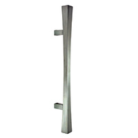 Colombo Italian Pull Handle Noa Straight Design Satin Chrome SINGLE THROUGH FIX
