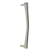 Colombo Italian Pull Handle Noa Curved Design Chrome finish SINGLE THROUGH FIX