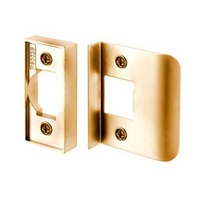 Nidus Tubular Latch Rebate Kit LATREB-PB Polished Brass