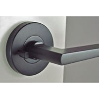 Nidus Door Handle Mediterranean Marino Round Privacy Lever Set Black