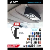SGT REMOTE UNIVERSAL VISOR CLIP Fits any Remote with 50 mm - 70 mm Height or Width