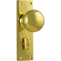 Tradco 1035PPB Victorian Knob Privacy FG Polished Brass 152x42mm