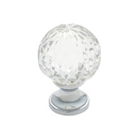 Tradco 3024CP Cupboard Knob Cut Glass Polished Chrome 38mm