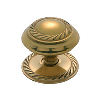 Tradco 3673PB Georgian Cupboard Knob Polished Brass 38mm