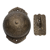 Tradco 5507AB Turn Bell Fancy Antique Brass