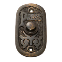 Tradco 5511AC Bell Push Antique Copper 40x80mm