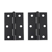 Trio BT8516LPBL Door Butt Hinge 85x60x1.6mm Loose Pin Matt Black Pair