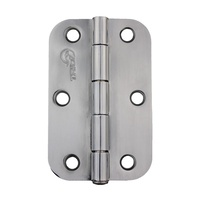 20x Trio Door Butt Radius Hinge TRB8916LPCP 89x58x1.6mm Polished Chrome