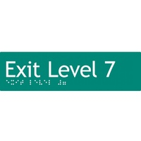 AS1428 Compliant Exit Sign L7 GREEN Level 7 Braille 180x50x3mm