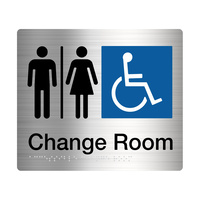 Male / Female Disabled Change Amenity Sign Braille Stainless Steel MFDC-SS
