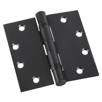 Zanda 5904BL Door Hinge 100x75x3mm Ball Bearing Fixed Pin Black