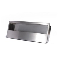 Zanda 6110BN Recessed Cabinet Handle Brushed Nickel 128mm CRS x 153mm O/A
