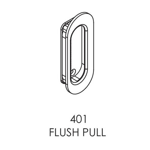 Brio 401+ Flush Pull For Top Hung Straight Sliding Panel 105mm