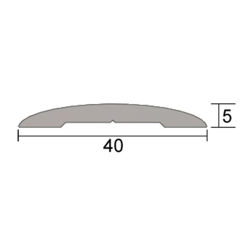Kilargo IS4120 40mm medium duty lowprofile threshold plate (5mm height)